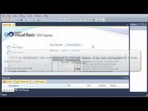 Visual Basic Playlist Bucky Videos Visual Basic Tutorial - 1 - What