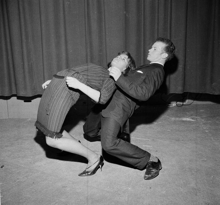 Trøndersk mesterskap i twist ble en stor suksess i Studentersamfundet. (22. januar 1963)