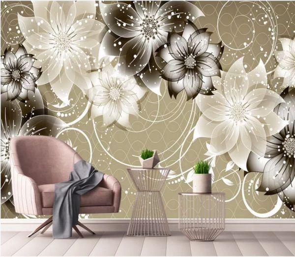 Fototapeta Kwiaty Bialo Szare 37817 Uwalls Pl Rose Wallpaper Wallpaper Popular Wallpaper