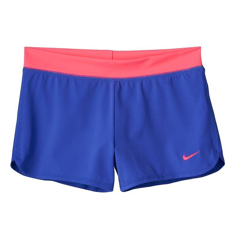 738dde8dfc7fe Girls 7-16 Nike Swim Cover-Up Shorts, Girl's, Size: 10-12, Blue (Navy)