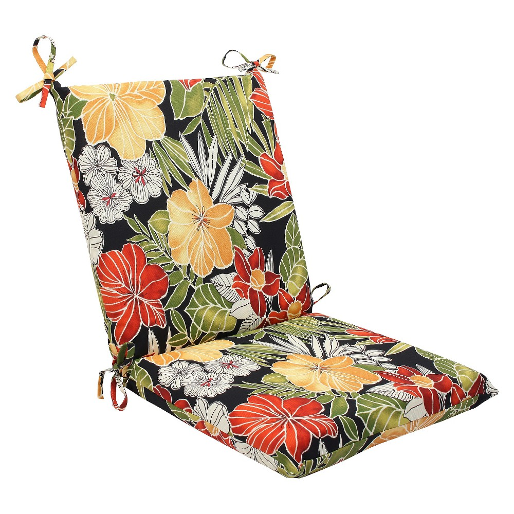 Pillow Perfect Clemens Outdoor Squared Edge Chair Cushion