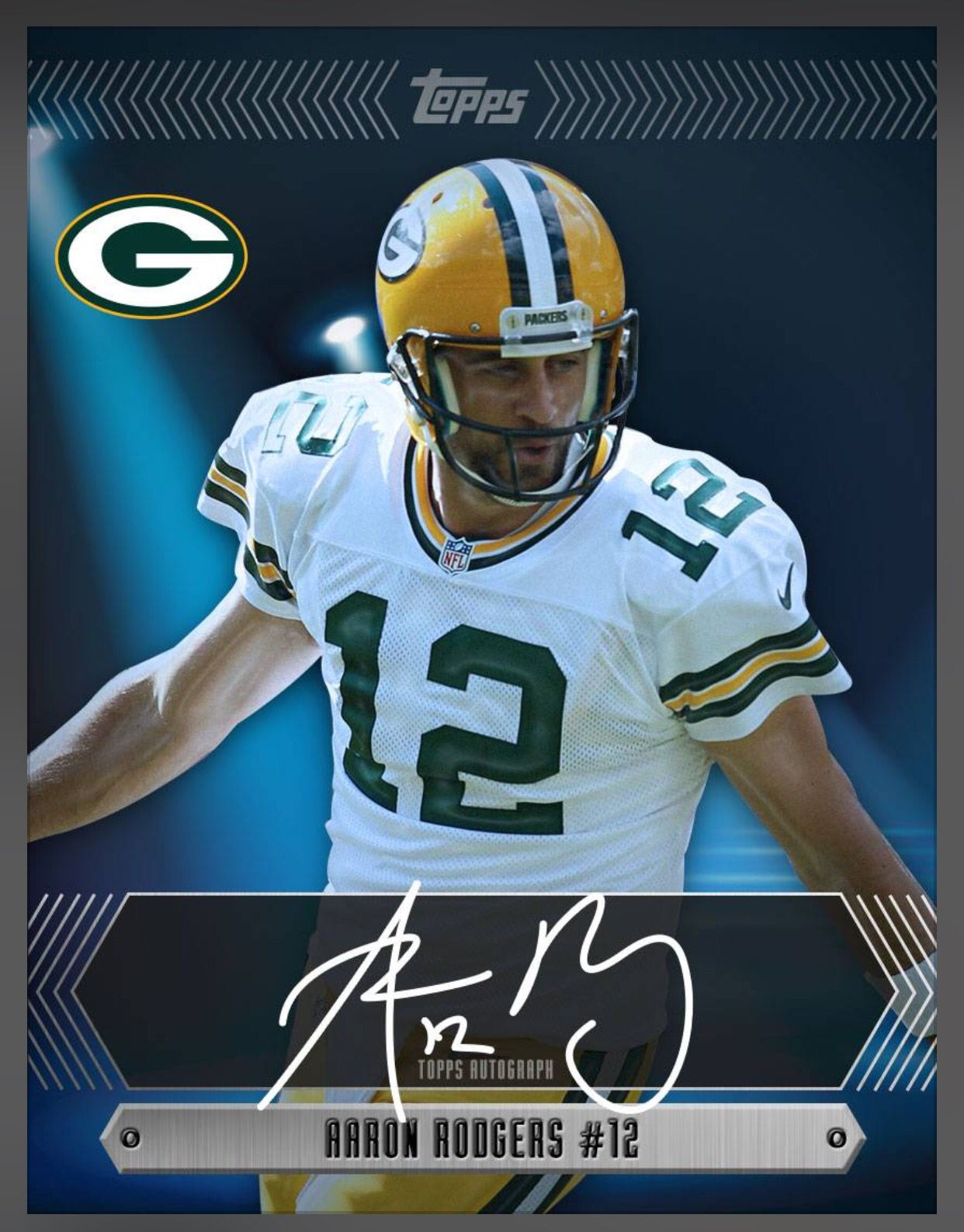 Aaron Rodgers Green Bay Packers Limited 500 Signature Insert Card 2016 Topps Huddle Football Cards Football Helmets Aaron Rodgers