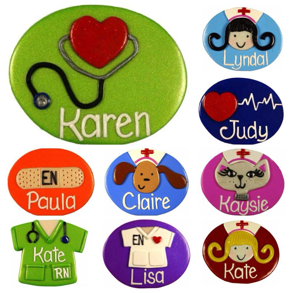 badge nurse clay