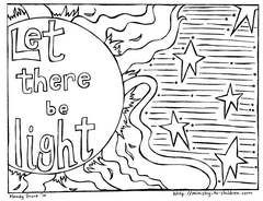 Print Out This Free Bible Coloring Page To Teach Kids About The Creation It Pictures Fourth Day When God Made Sun Moon And Stars By His Command