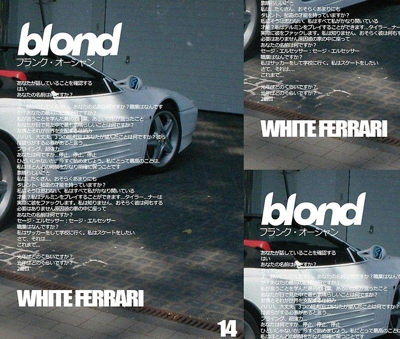 15+ Frank Ocean White Ferrari Wallpaper  Pictures