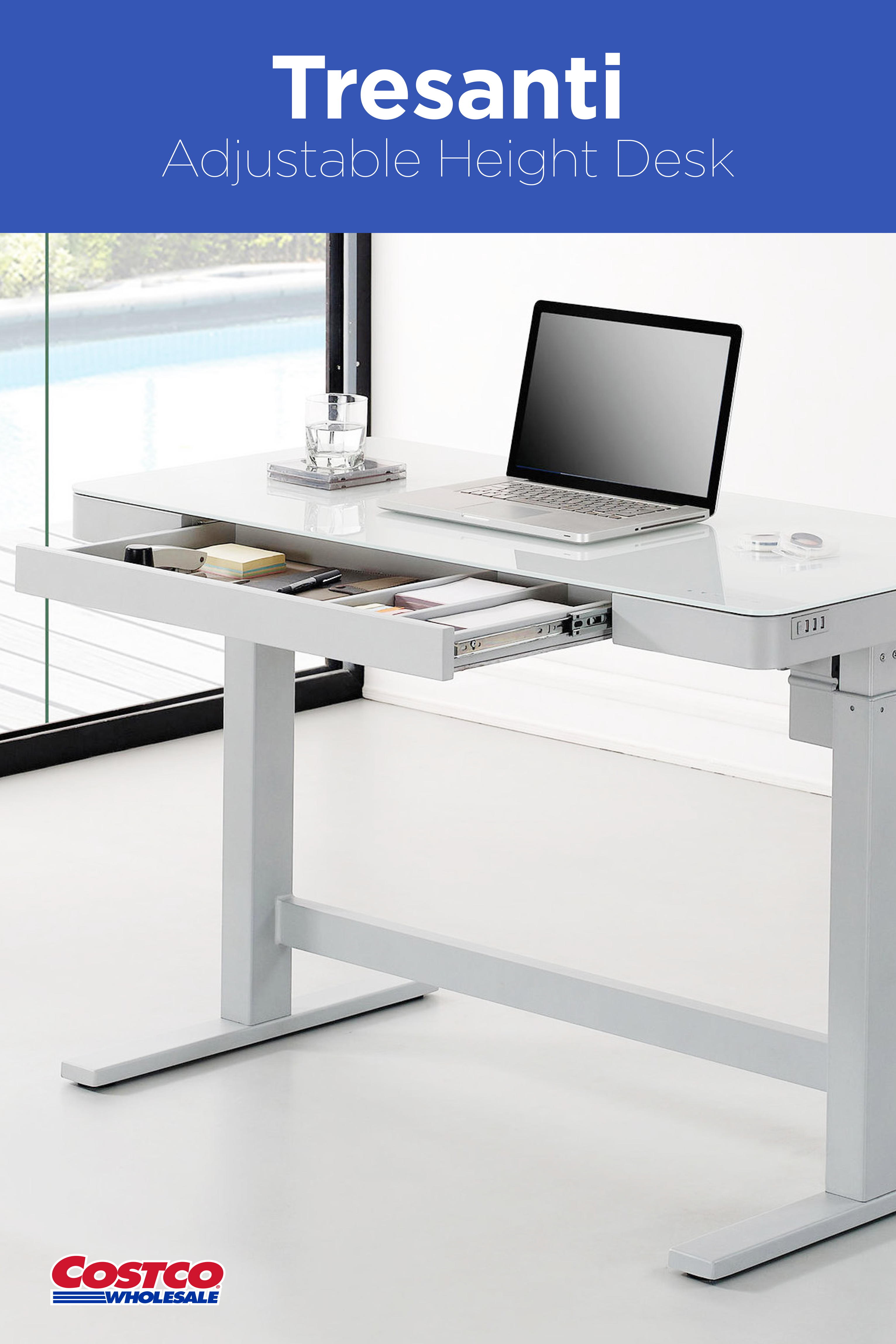 Update your work space with this contemporary, yet