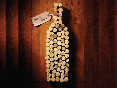Wine Bottle Made Of Corks Cute Idea For A Decoration