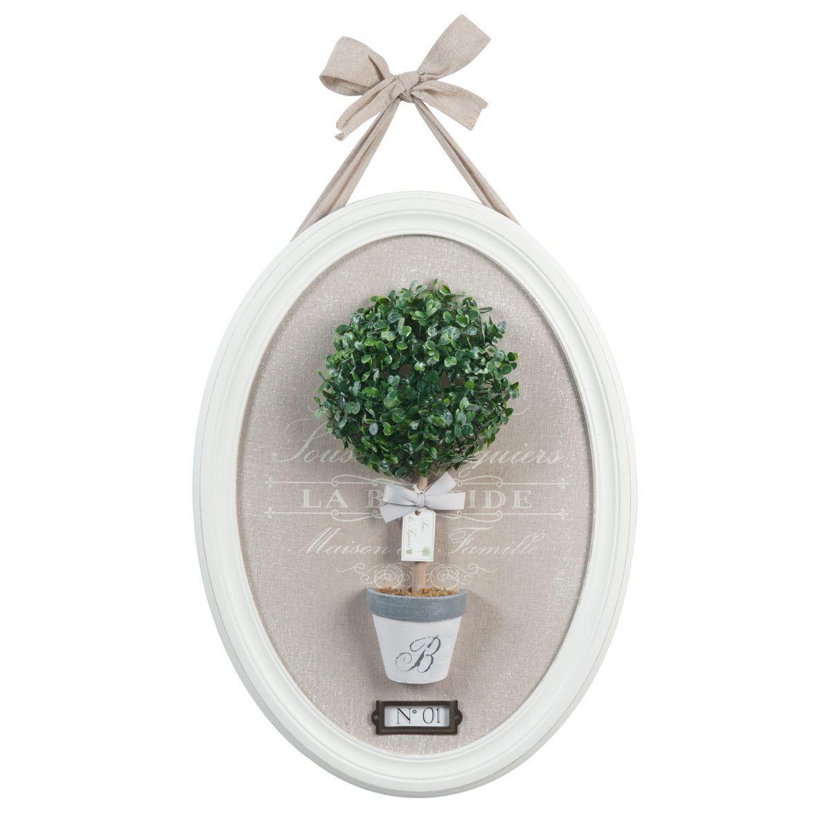 Tableau Buis Ovale 40 X 55 Cm Maisons Du Monde Buchsbaum