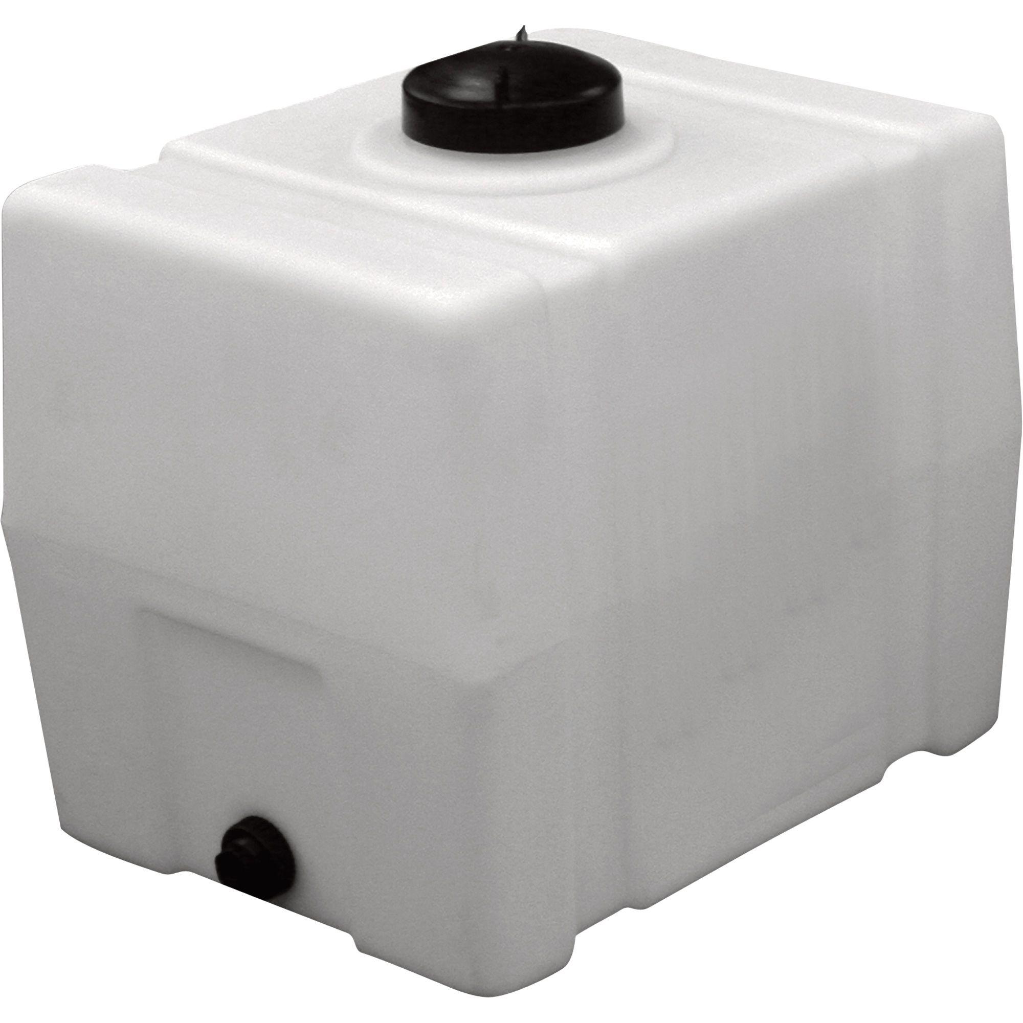 Romotech Poly Storage Tank Square 100 Gallon Capacity Model 2392 Storage Tank Storage Tanks Water Storage