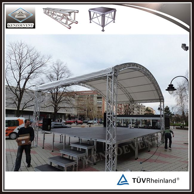 Hot Item Outdoor Stage Truss Aluminum Arched Roof Truss Outdoor Stage Portable Stage Outdoor