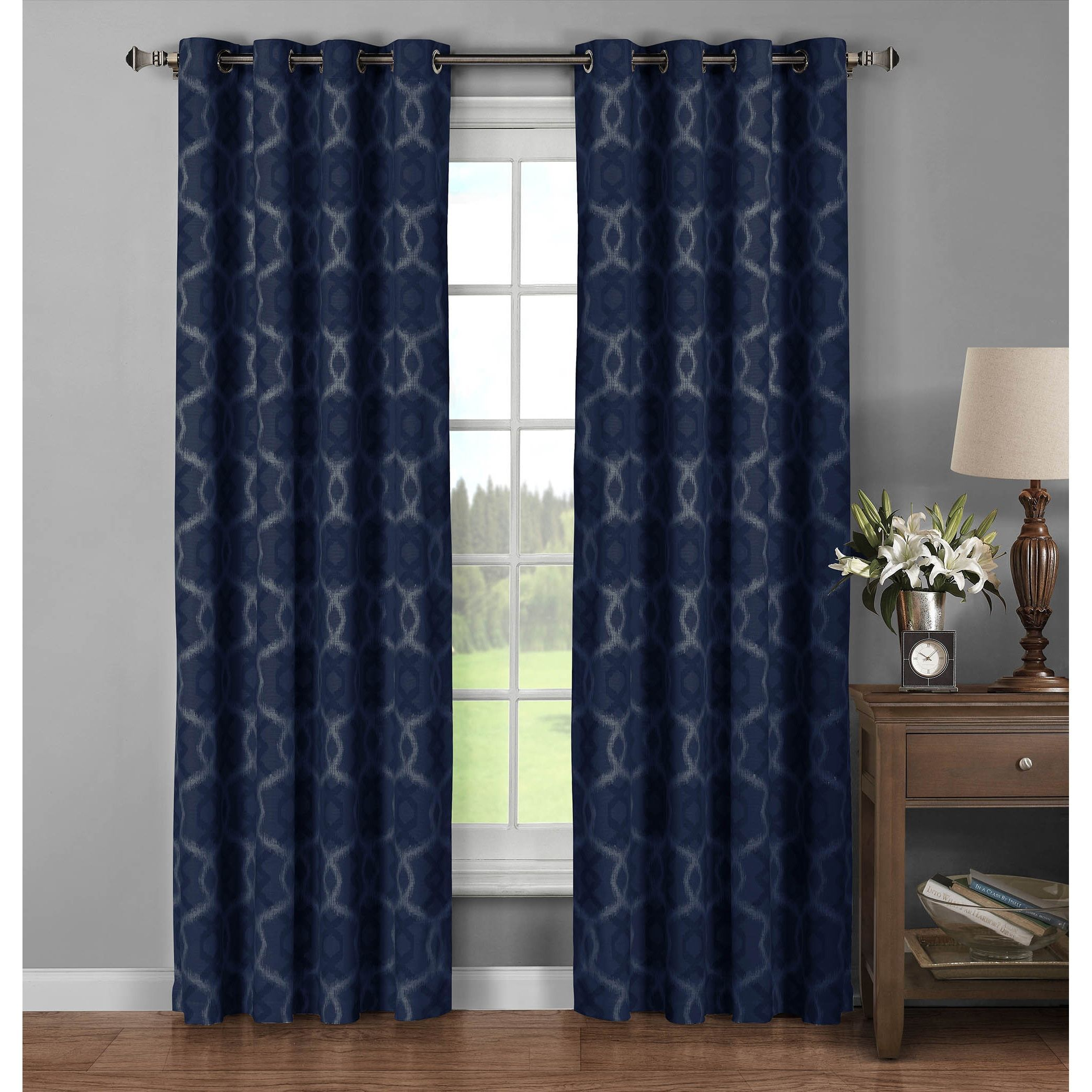 Window Elements Avila Printed 96 Inch Extra Wide Grommet Curtain