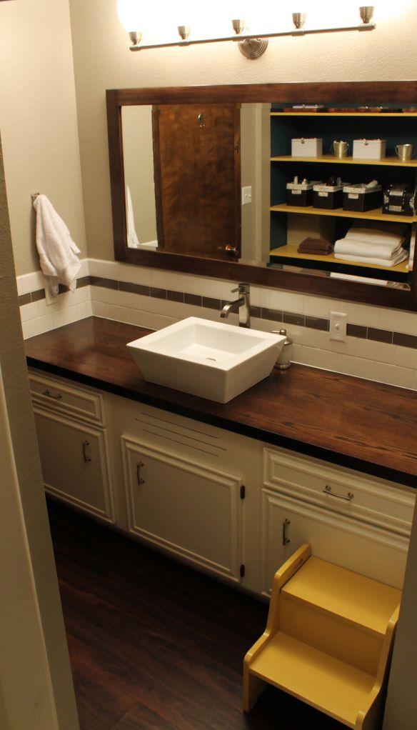Megan S Bathroom Remodel Bathroom Countertops Diy Bathroom