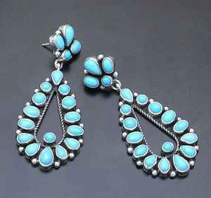 turquoise and multi stone | ... -Sleeping-Beauty-Turquoise-Multi-Stone-Earrings-Sterling-Silver