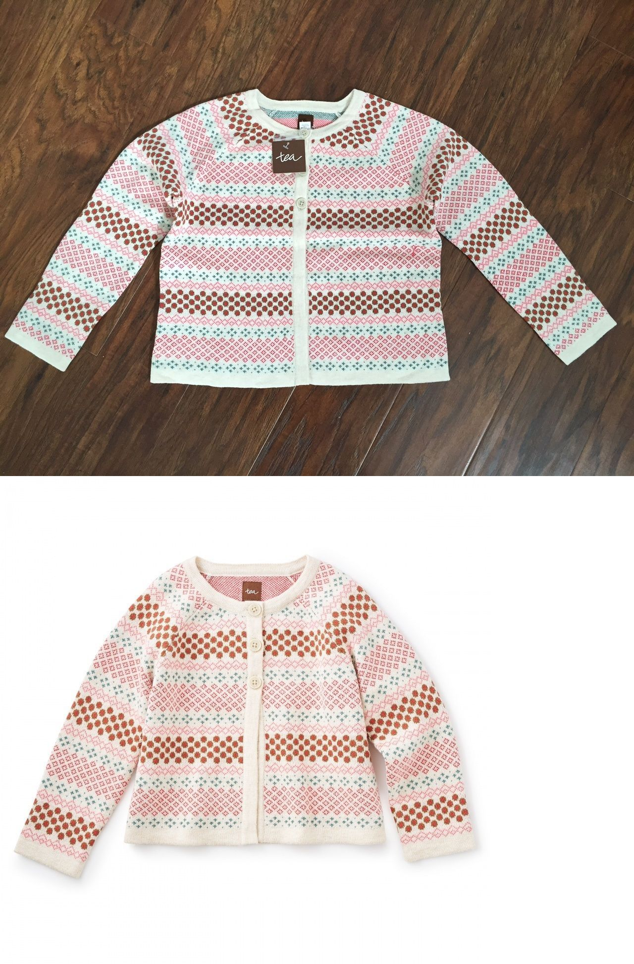 Sweaters 51582: Nwt Tea Collection Girls M 6 - 7 Cardigan Sweater ...