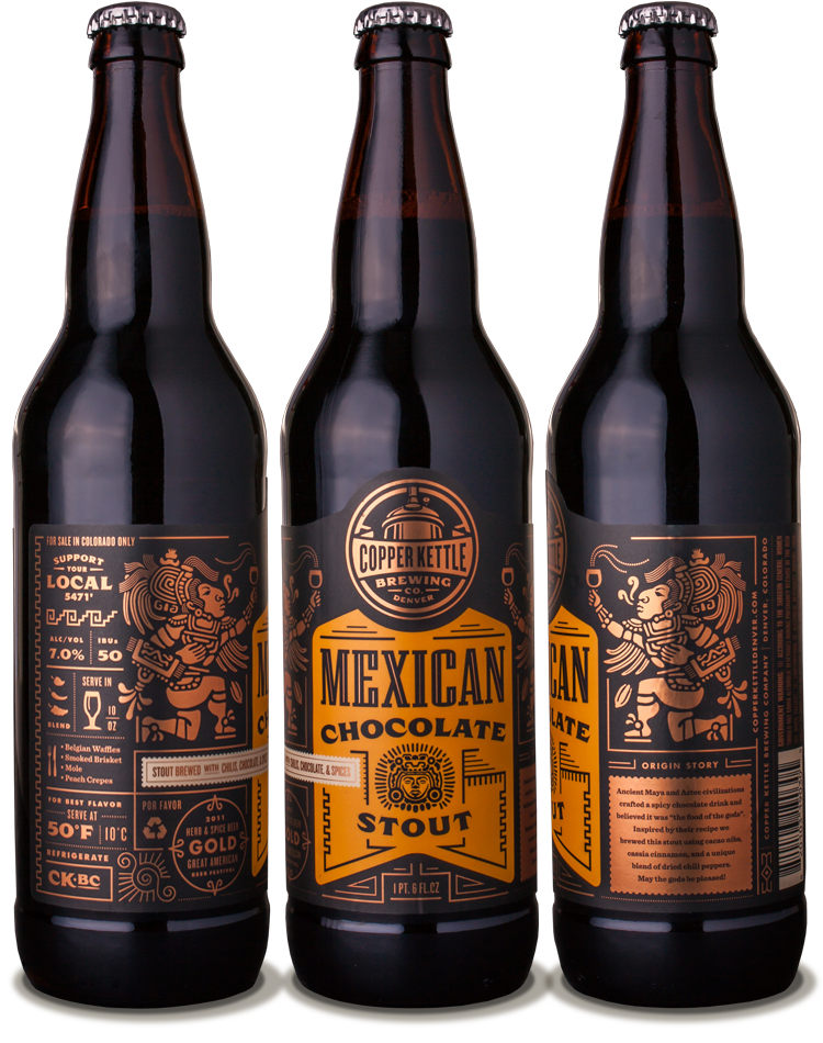 Copper Kettle Mexican Chocolate Stout designed