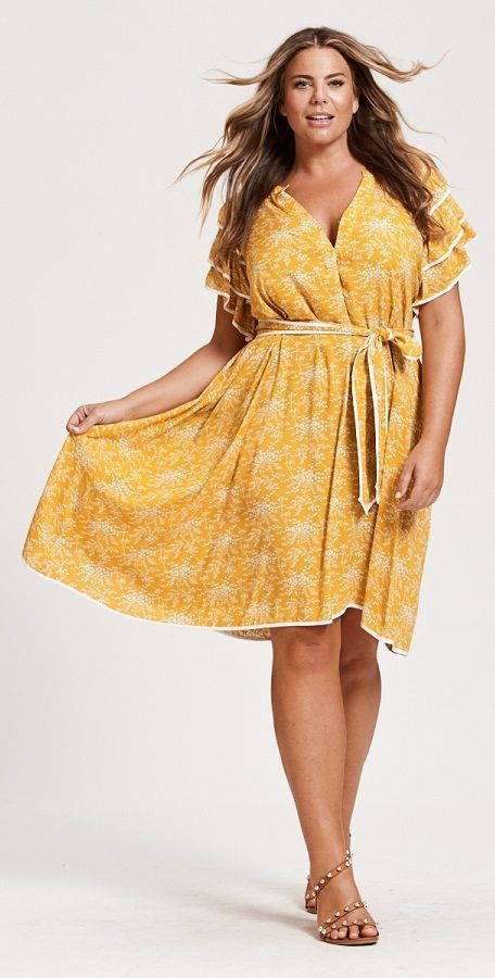 Bohemian Style Yellow Dresses In Boho Inspired Silhouettes Plus
