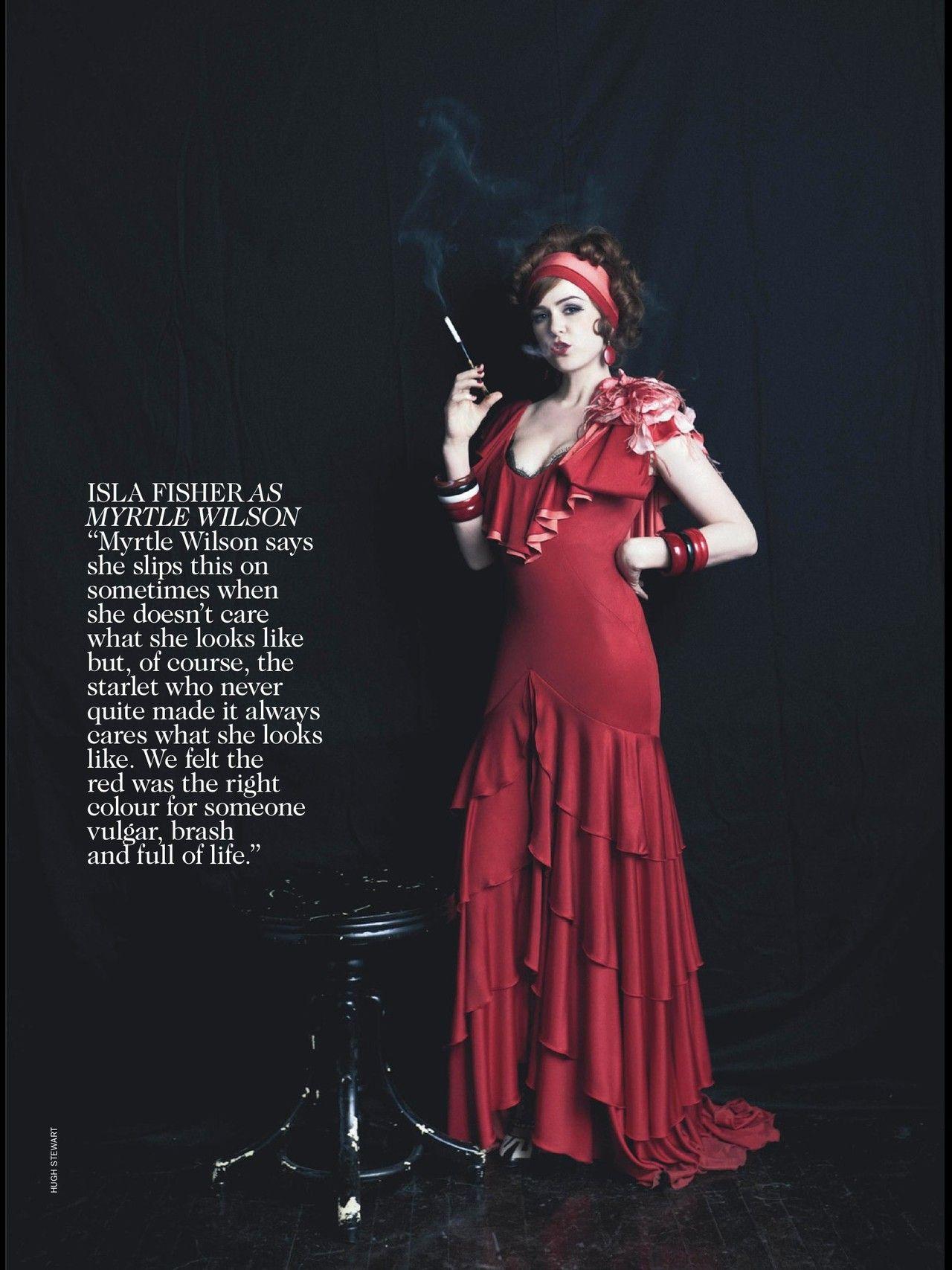 Isla Fisher Is Myrtle Wilson In Baz Luhrmans Great Gatsby Film