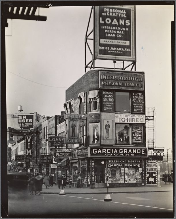 Billboards and signs, Fulton Street between State street and Ashland place, Brooklyn. (October 29, 1936). NYPL Digital Gallery.