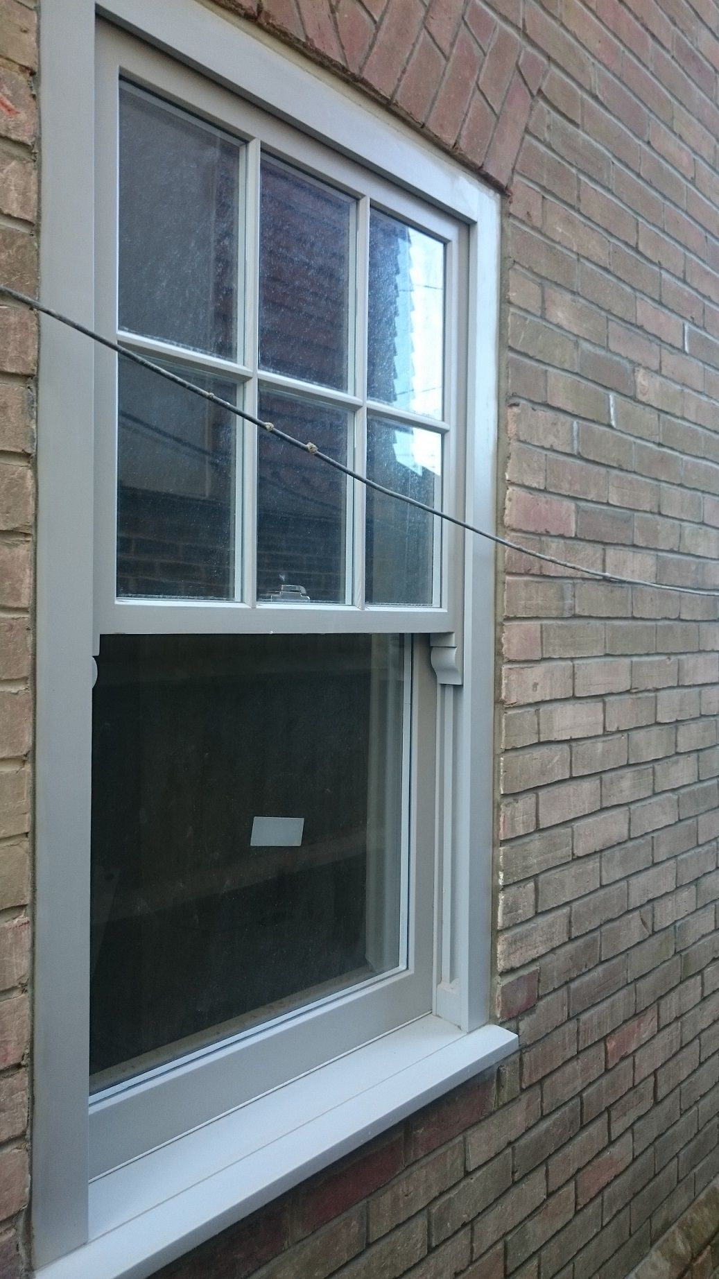 6 Over 1 Sash Windows Finished In Ral 7044 Supplied By Timber