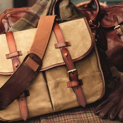 10059de0c36 Canvas Messenger Bag by Polo Ralph Lauren   Accessoreez in 2018 ...