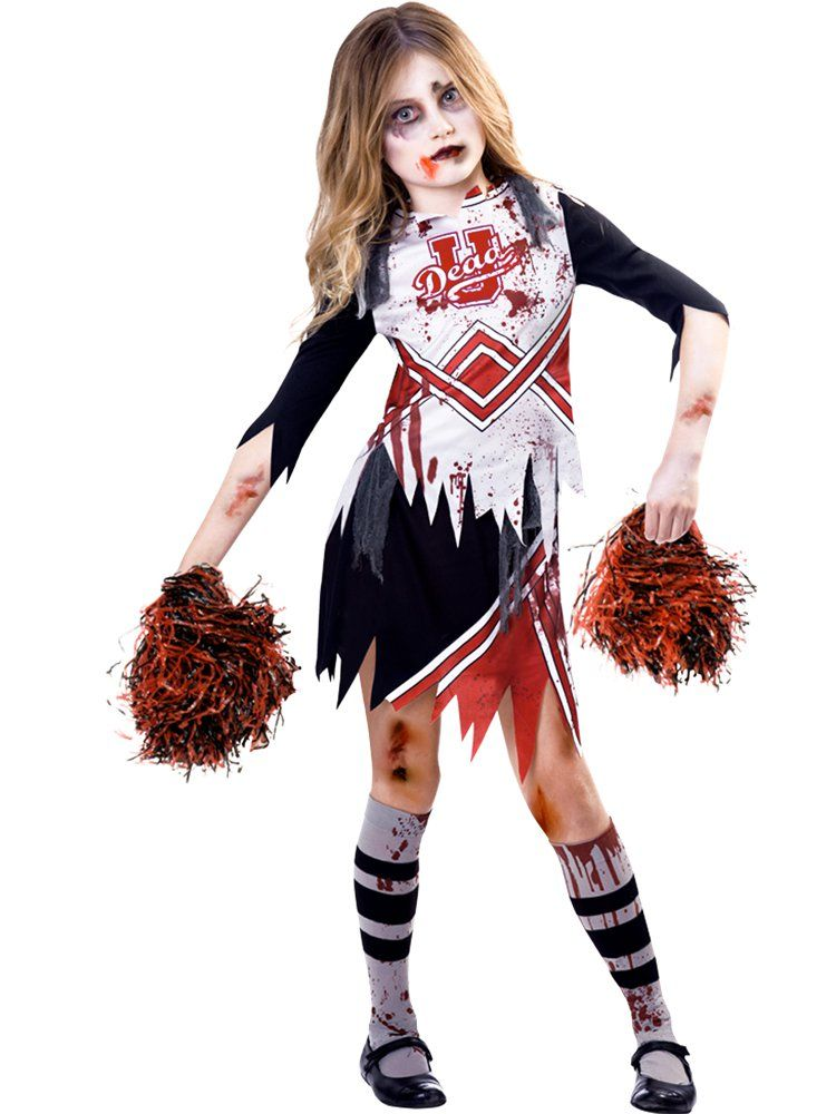 Zombie Cheerleader Girl , Child Costume