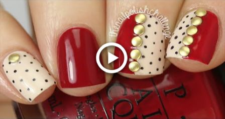 Fall Fashion Studded Nail Art DIY || KELLI MARISSA #koreannailart
