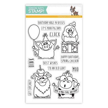 Simon Says Clear Stamps BIRTHDAY FARM ANIMALS sss101430