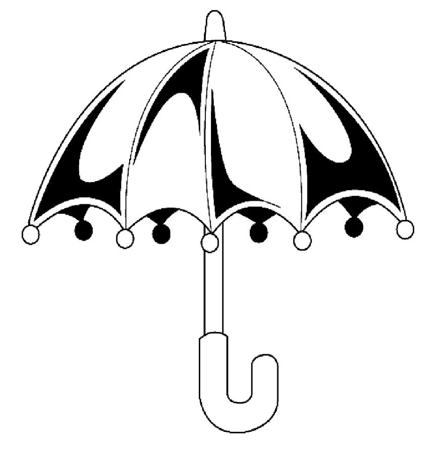 Closed Umbrella Coloring Pages  Kids Coloring Pages  Pinterest