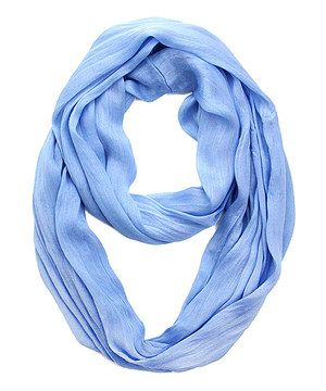 Look what I found on #zulily! Periwinkle Silk-Blend Infinity Scarf by Look By M #zulilyfinds