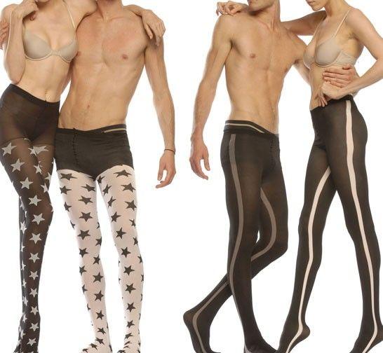 NICE VIDEO men in pantyhose couples