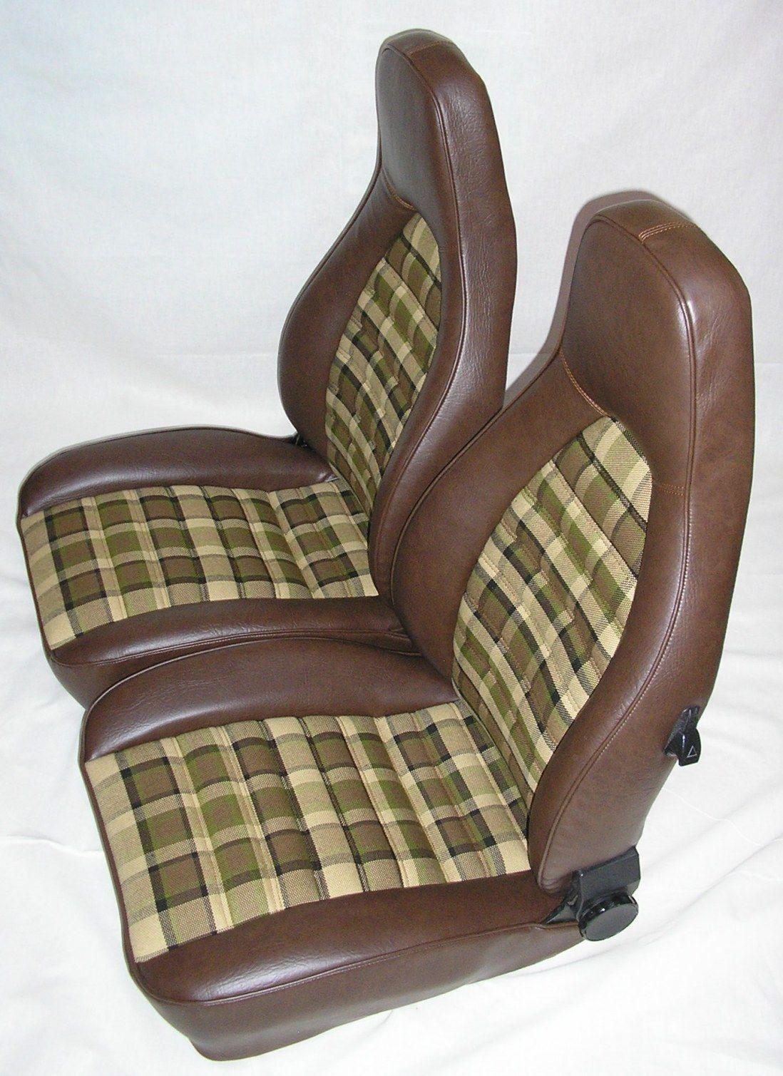 vw westfalia t1 t2 sitze braun kariert auch porsche 924. Black Bedroom Furniture Sets. Home Design Ideas