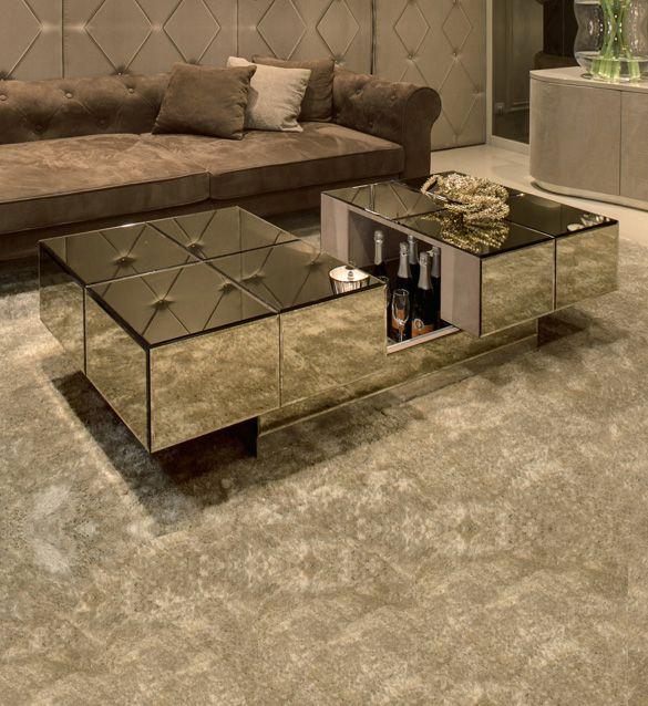 Mirrored Bar Coffee Table Juliettes Interiors Luxury