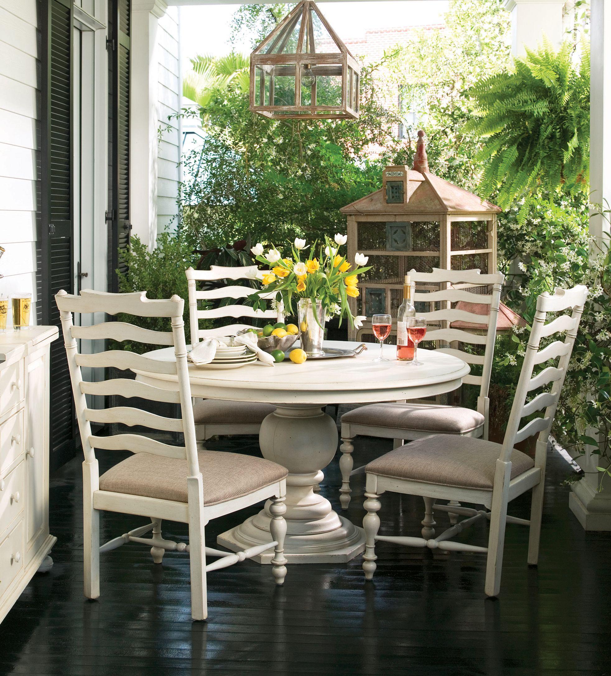 Paula Deen Home Linen Round Pedestal Table  Decorating Amusing Paula Deen Dining Room Set Decorating Design
