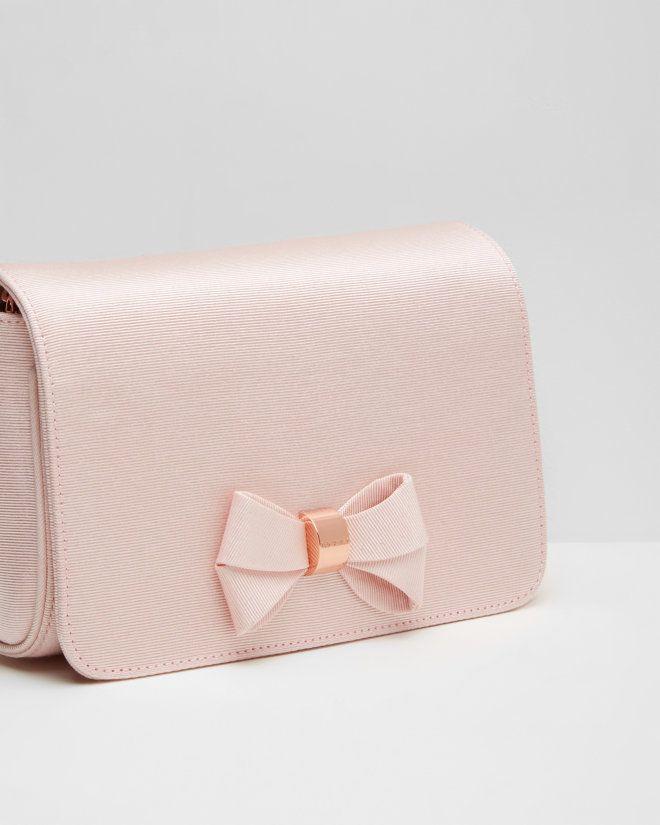 3e979b7a7709c Bow detail clutch bag - Baby Pink