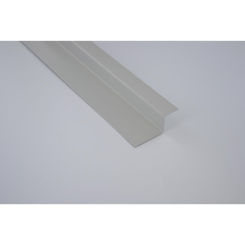 Profil D Habillage Joint Pose Horizontale Aluminium Scover Plus Gris 24x60mm 2m Habillage Gris Et Profil