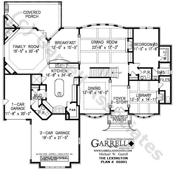 Lexington House Plan # 06001, 1st Floor Plan, Traditional Style ...