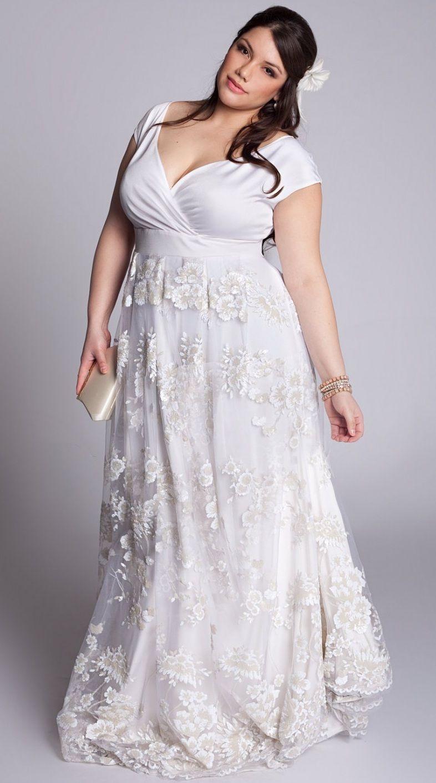 Models plus size second marriages pinterest for Vintage wedding dresses plus size