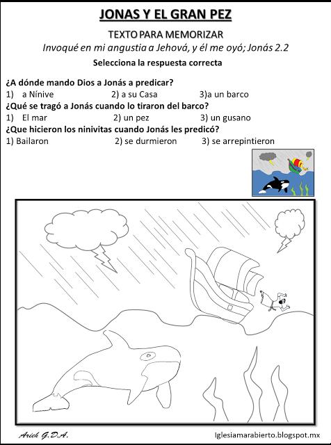 IGLESIA MAR ABIERTO: ESTUDIO BÍBLICO PARA NIÑOS (JONÁS Y EL GRAN PEZ ...