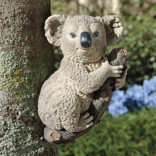 Sleeping Animal Koala Bear Garden Statue Art Design Decoration Outdoor Yard Lawn