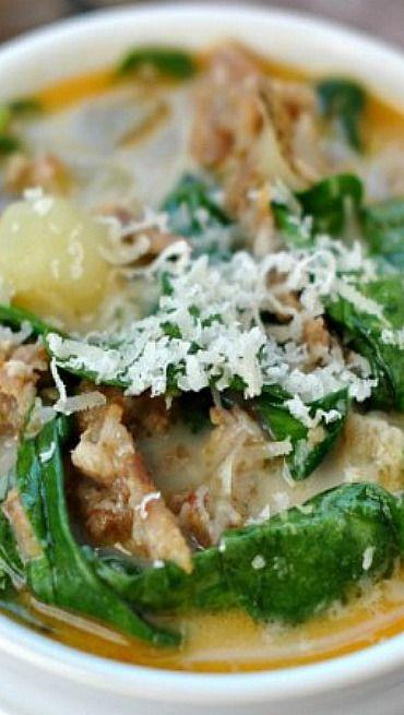Zuppa toscana soup creamy delicious soup copycat - Olive garden wedding soup recipe ...