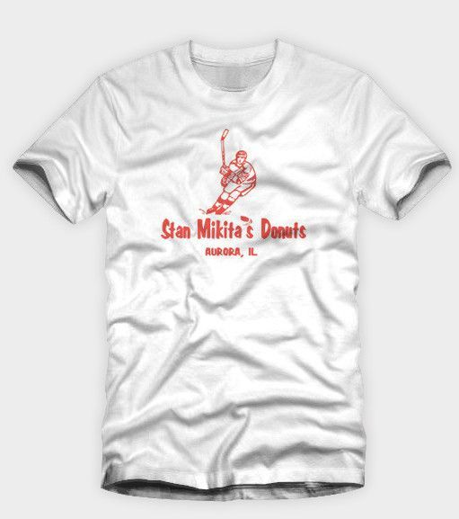 "Wayne/'s World /""Stan Mikita/'S Donuts/"" T Shirt T-shirt graphique"