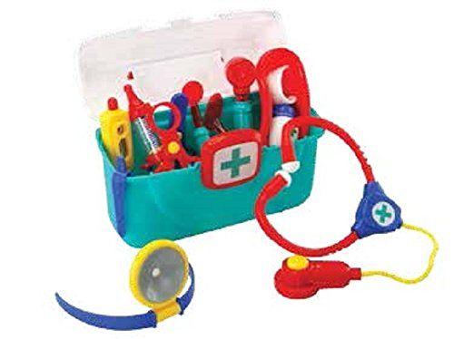 Robot Check Medical Kit Kids Playing Toy Labels
