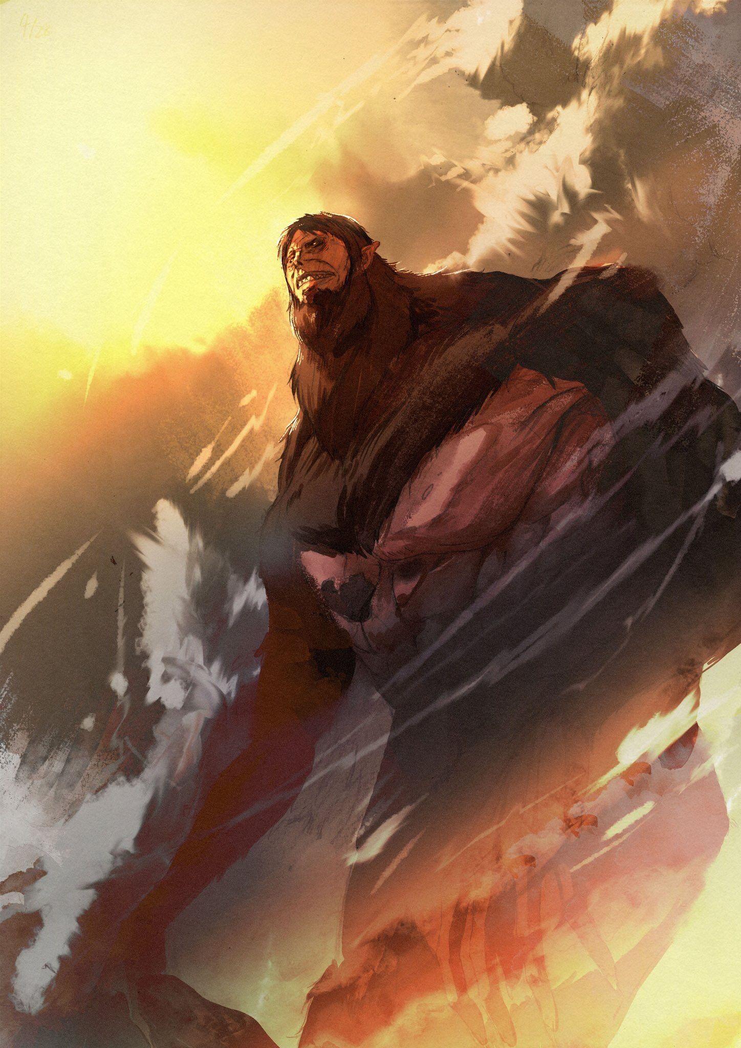Zeke Beast Titan Attack On Titan Attack On Titan Anime Attack On Titan Art Attack On Titan