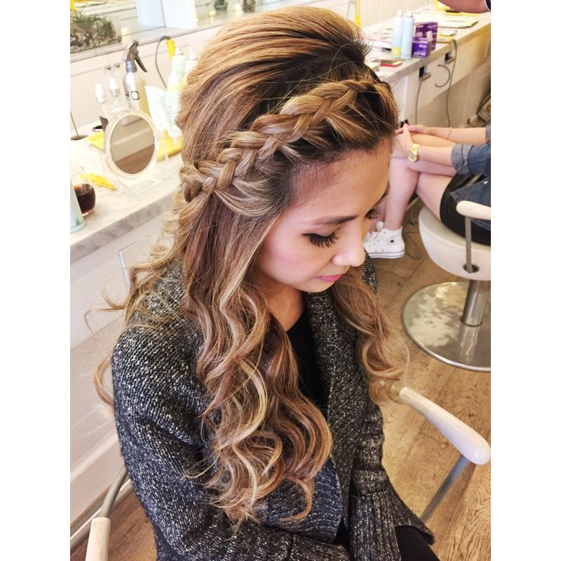 Best 25 Braids With Curls Ideas On Pinterest Prom Hair