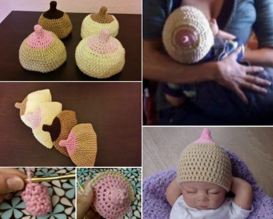 5c2d9c051e84f This Breast Beanie Crochet Pattern is perfect for the breast feeding Mom  and makes a super cute gift. Watch the video tutorial too.