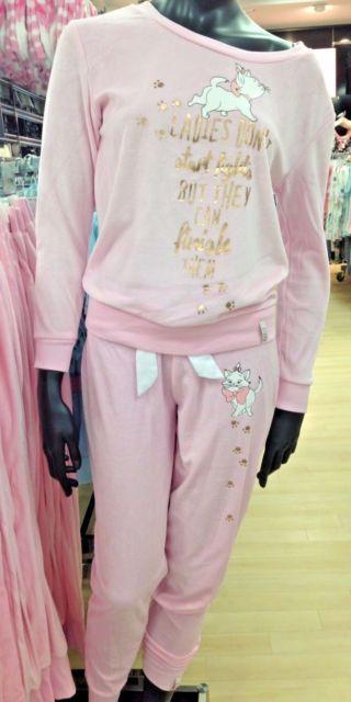 018ec6168 Primark Ladies Disney Marie Aristocats Pyjamas Girls Pjs Set Top ...