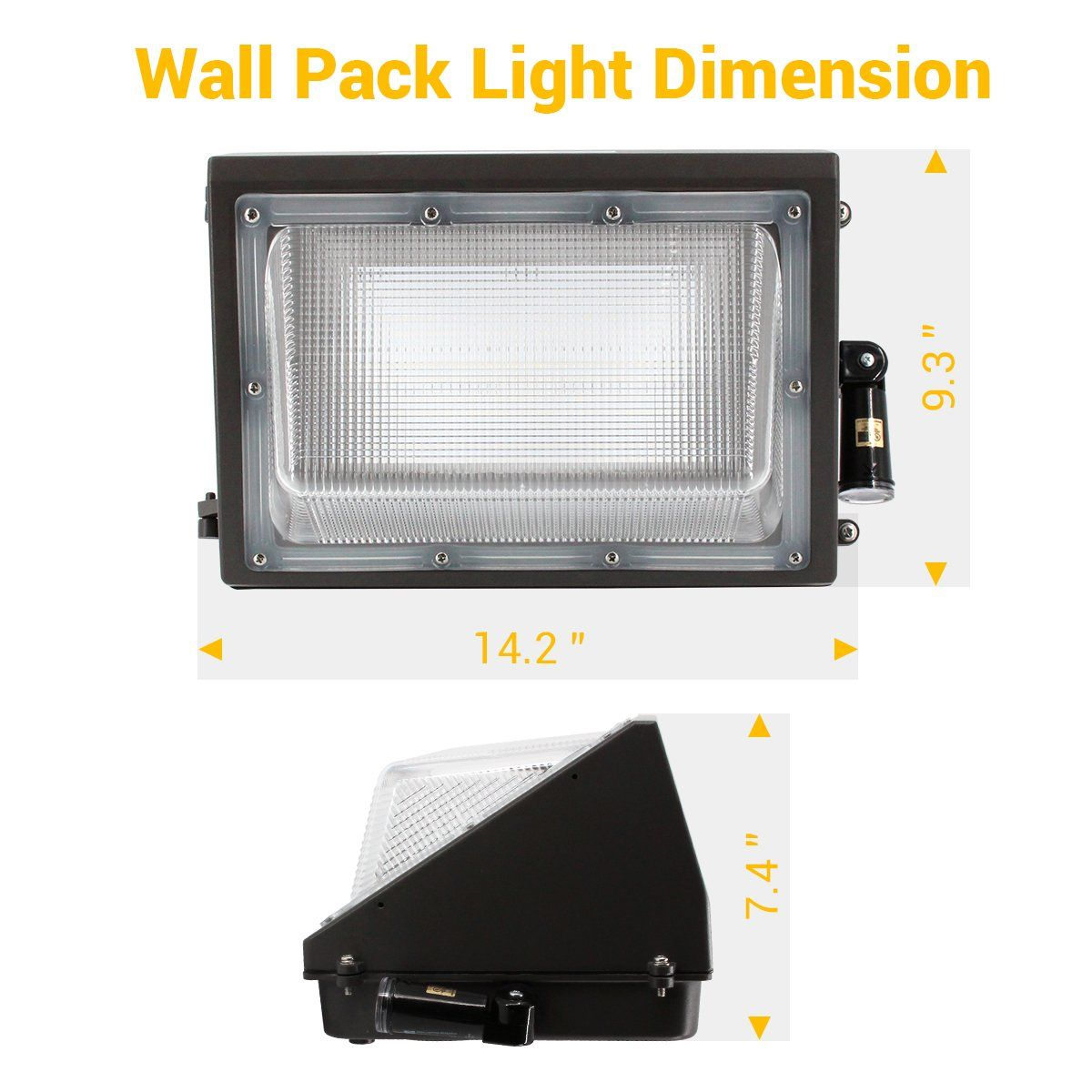 Best World Led 100w Led Wall Pack Light Dusk To Dawn 2 Photocells For 120277v Outdoor Lighting 50 Wall Pack Lights Wall Packs Lighting Ceiling Fans