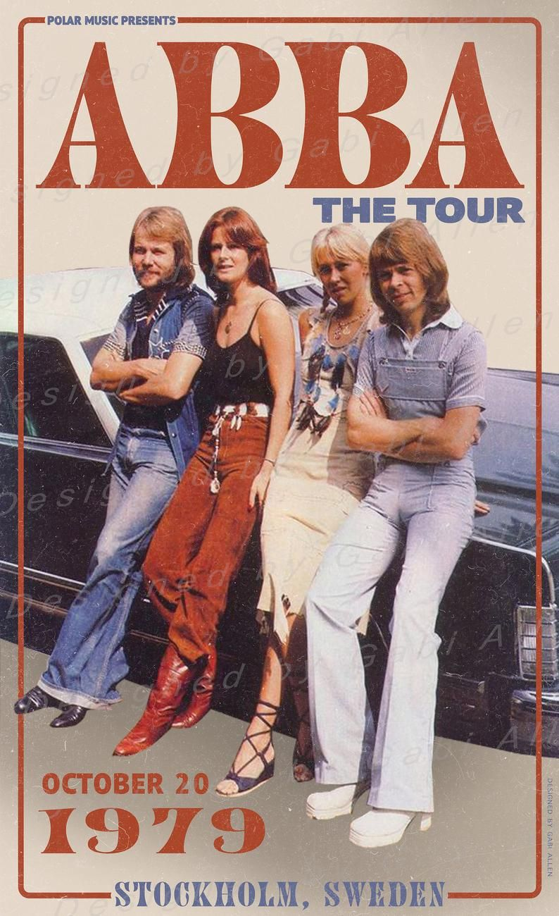 ABBA The Tour Print Digital Download Poster
