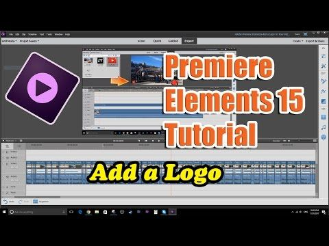Tutorial on how to create a clear text title which scrolls across a premiere elements 15 tutorial add a logo to your video ccuart Image collections