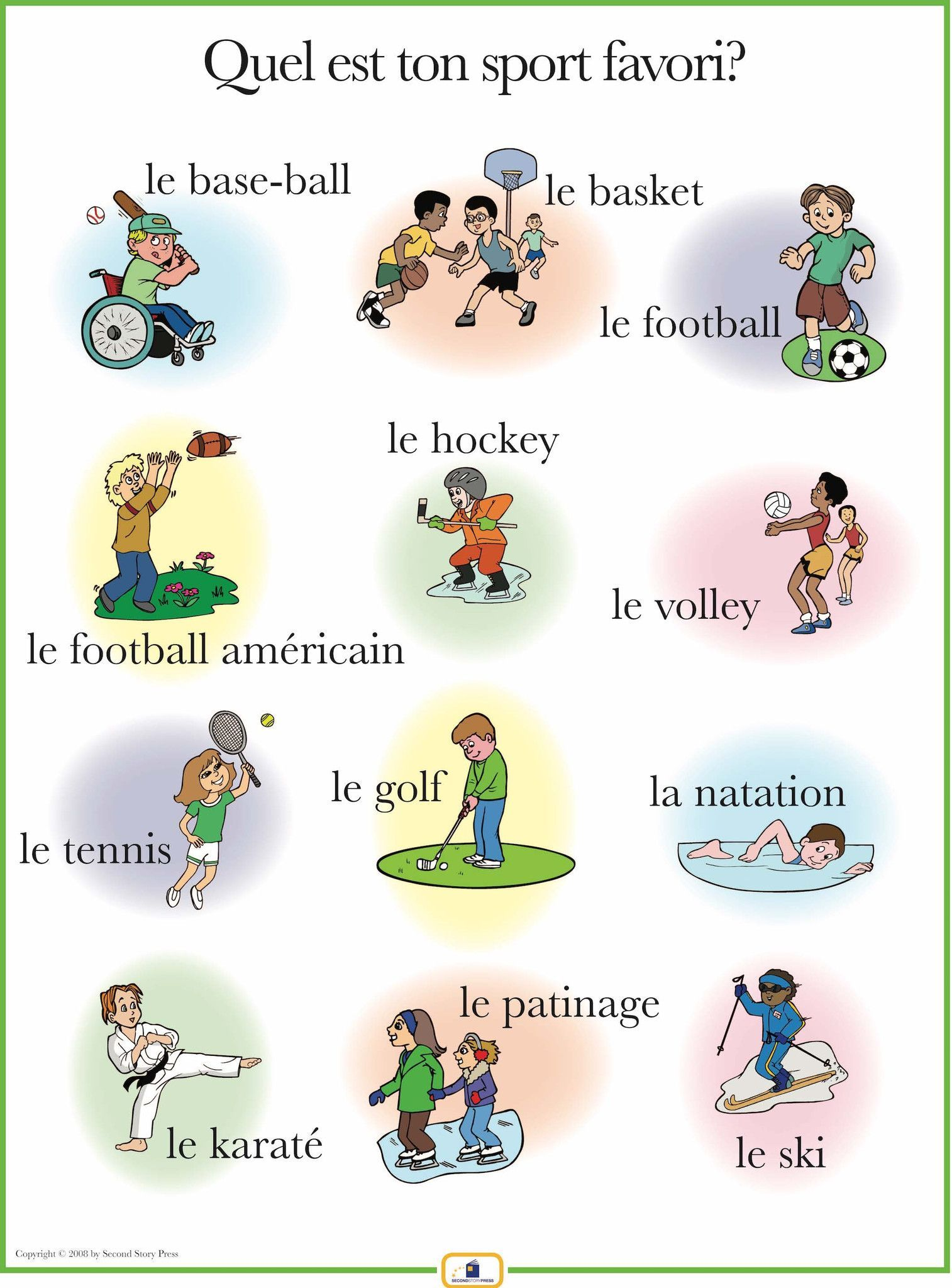 French Sports Poster